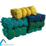 Rete di plastica verde del Windbreak di sicurezza Net/PE di protezione del cantiere dell'HDPE