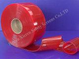 Rouge solide de rideaux en bande de PVC