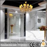 Calacataの装飾のための光沢のあるガラス化された磨かれた艶をかけられた磁器の薄くスラブ床のタイル