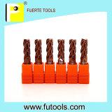Herramientas que muelen cuadradas de la talla estándar del carburo cementado para el metal