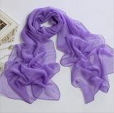 Colores Chiffon largos vendedores comunes de la bufanda 32