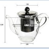 чайник термостойкого стекла нержавеющей стали 400ml