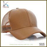 Sombrero de cuero llano en blanco de encargo del camionero del acoplamiento