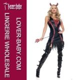 Esqueleto Fancy Dress Sexy Adulto traje para Halloween Costume (L1393)