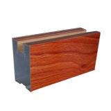 Profil en aluminium de grain en bois pour Windows et l'enduit de poudre de porte, coupure thermique, anodisant, argent polissant, polonais d'or