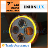 "7 "" LED Headlight Round 7 Inch Headlight, Jeep를 위한 Halo를 가진 LED Headlight"