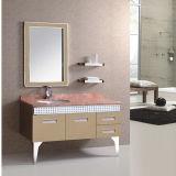 Neuer Fußboden-stehende Stahlbadezimmer-Eitelkeit mit Regal