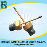 """6개의 """" 돌, 세라믹 콘크리트를 위한 다이아몬드 코어 드릴용 날 - 사용을 적시십시오"""