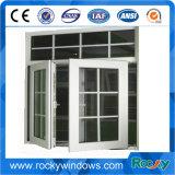 Graues Farben-Schwingen eingehängtes öffnendes Aluminiumflügelfenster-Fenster mit aufgebaut in den Vorhängen