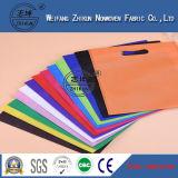 Tela não tecida resistente dos PP do rasgo colorido para o saco de compra