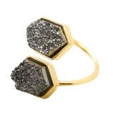 بيضاء صدم أسود مفتوحة قابل للتعديل طبيعيّة حجارة حلق