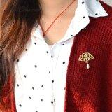 [غلد-كلور] [سمولتد-برل] دبوس الزينة مجوهرات مروحة زهرة دبوس الزينة نمو مجوهرات