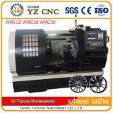 Machine de tour de commande numérique par ordinateur de réparation de roue d'alliage de découpage du diamant Wrc30
