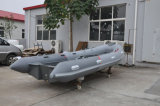 17FT Pontoon Boat Fiberglass Hull Rib Boat Checp Price Dinghy