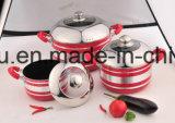 Aleación de aluminio recubierto antiadherente sartén y ollas para juegos de utensilios de cocina Sx-T005