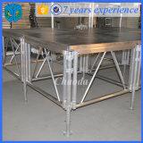 Système en aluminium d'étape de contre-plaqué de bâti