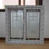 Двойное стекло Kz218 с профиля цвета UPVC решетки окном белого сползая