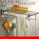 Metaal van de badkamers poetste het Vouwbare Rek van de Handdoek van het Chroom op