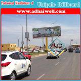 Doble Lado exterior Columna Estructura de acero galvanizado para cartelera publicitaria (W12 XH 4)