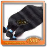 Weft Braziliaanse Straal Zwarte Haar van het menselijke Haar