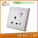 Interruptor grande de la pared del botón 1gang del estándar británico de la alta calidad