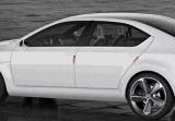 Бампер протектора скреста двери автомобиля обнажает стикеры