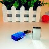 Kristal van de Stok van het Geheugen van de Aandrijving van de Pen USB van het Embleem van de laser het Transparante 64GB
