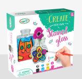 Het Geschilderde Kunst speelgoed-Bevlekte Glas van jonge geitjes DIY