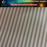 Tela teñida hilado de la raya, tela de materia textil tejida tela cruzada del poliester para la guarnición (S48.49)