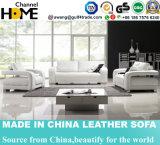 Quente-Vendendo o sofá secional da sala de visitas 1+2+3 do couro branco (HC6017)