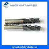 Carboneto de tungstênio Endmills com elevada precisão
