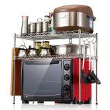 Универсальный черный шкаф микроволновой печи кухни металла с колесами