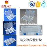 Grande casella di memoria di plastica trasparente