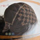 아프로 꼬부라진 어깨 길이 가득 차있는 Handtied 유형 레이스 형식 여자 가발 (PPG-l-0848)