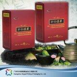 Billig gedruckter Ebene gepackter Falz-verpackenmedizin-kosmetischer Kasten (xc-pbn-001)