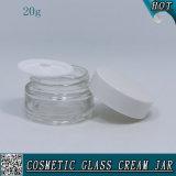20ml leeren freien GlasCoemstic Behälter mit Plastikschutzkappe
