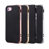 Caso del coperchio del telefono delle cellule del PC TPU della fibra del carbonio dell'OEM per il iPhone 7s