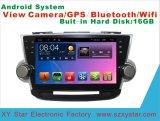 Androïde GPS van de Navigatie van de Auto van het Systeem voor Hooglander het Scherm van de Aanraking van 10.1 Duim met Bluetooth/TV/MP3/MP4