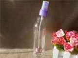 runde Plastikflasche 250ml mit blauer Pumpe (PETB-06)