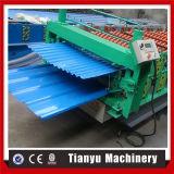 Doppelte Schicht-Stahlparalleltrapez-Dach-Blatt-Furchung-Rolle, die Maschine bildet