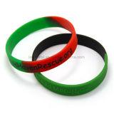 Wristband colorido de encargo del caucho de Debossed del deporte