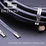 Serres-câble enduits universels d'acier inoxydable en métal