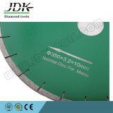 Le type diamant de ventilateur de JDK scie la lame pour le découpage de marbre