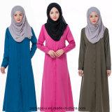 Camisa larga musulmán Chiffon de las mujeres de la alineada de la manera de la alta calidad