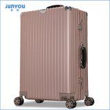 Diseño caliente de la manera de la venta 2017 equipaje de Aluminumtrolley de 20/24 pulgada con Rose Goldent