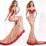 Vestito da sera rosso di occasione speciale del partito della sirena di Aoliweiya