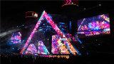 visualizzazione di LED locativa di pH6.9mm per il concerto di musica