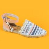 Multi scarpe di tela piane colorate dei sandali della cinghia di Ankel del tallone