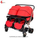 Bom carrinho de criança de bebê dobro do gêmeo do bebê/carrinho de criança dos miúdos/carrinho de criança de dobramento 3 in-1 feito em China