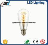 Lámparas retras AC220V de la luz de cristal transparente del filamento de la lámpara ST48 de Edison de la vendimia del bulbo E27 2W de MTX LED
